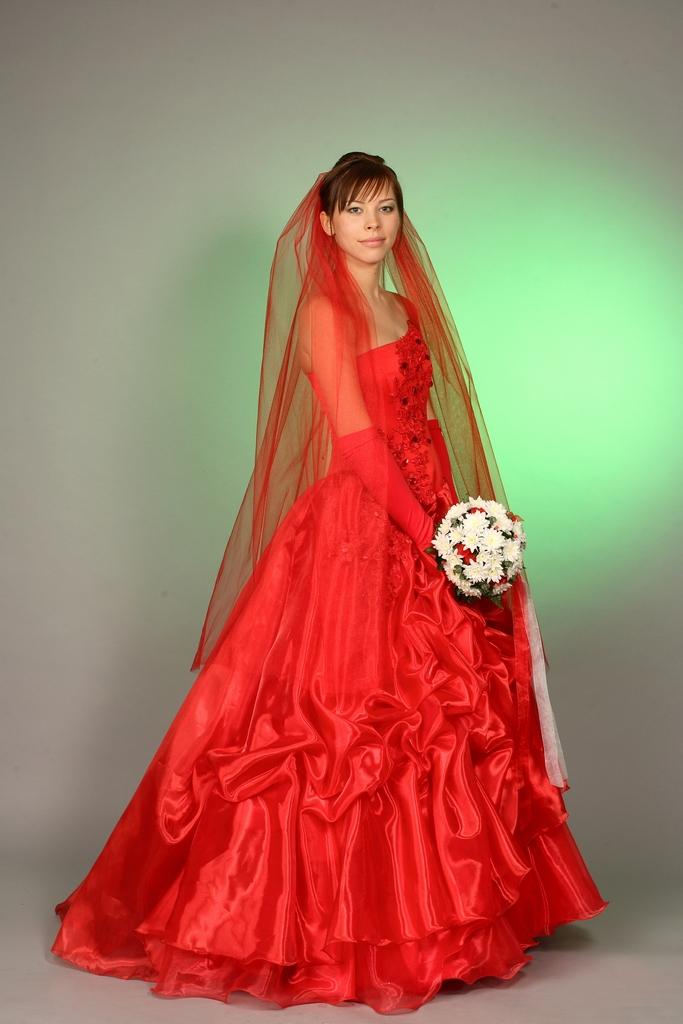 Модная одежда: Свадебное Платье Красное